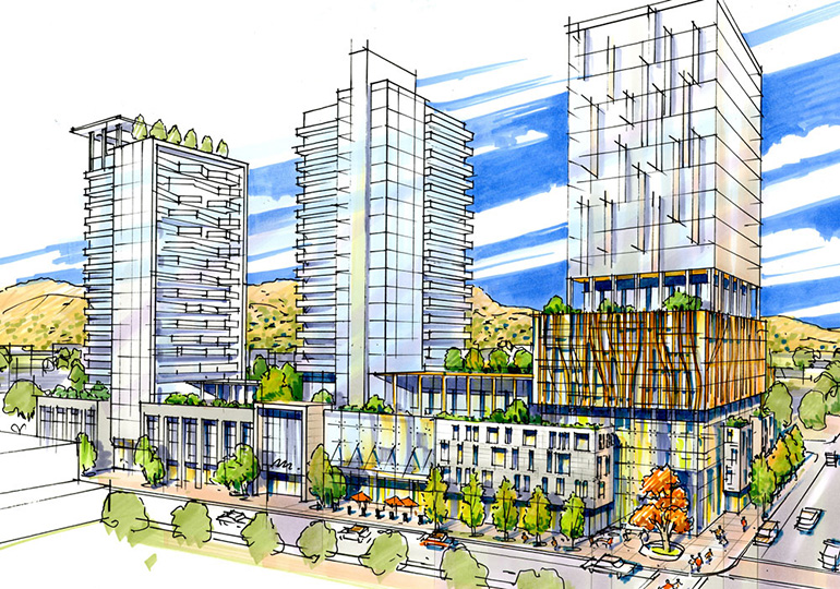 UBC is planning to use the Doyle Avenue location for academic and research uses and also create additional shared-use areas, office, residential and some amenity spaces.