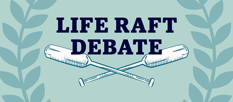 UBC Okanagan third-annual Life Raft Debate graphic