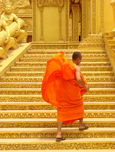 Caption: Buddhist monk near Phnom Penh, Cambodia (May 2009). Photo by Adam Jones, PhD/Global Photo Archive/Flickr