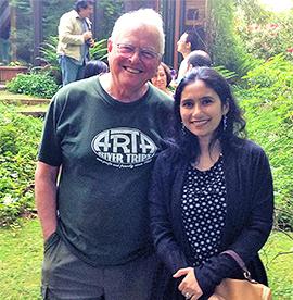 Haque with her mentor, Prof. R. Tyrrell Rockafellar.