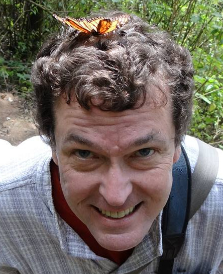Adam Jones with butterfly on his head. Photo by Griselda Ramirez