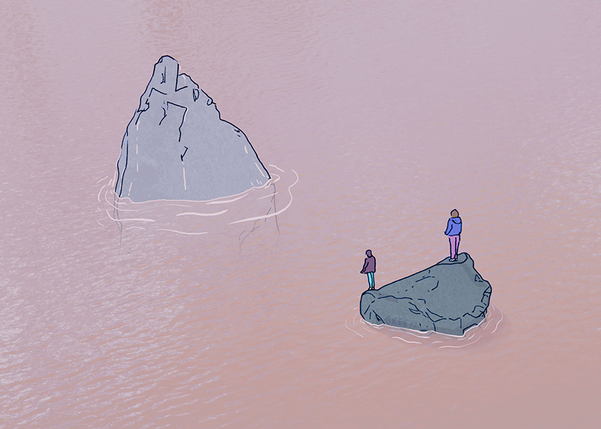 Drawing + photo collage made @ HEIMA, Iceland, by Ashleigh Green
