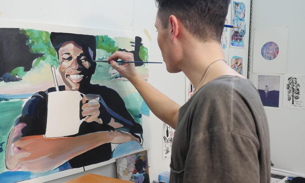 Ben Arcega painting